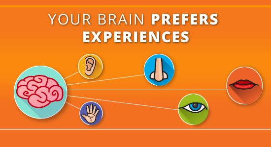 Your brain prefers experiences. Why experiences are a critical mechanism for driving emotional connections and memories with customers