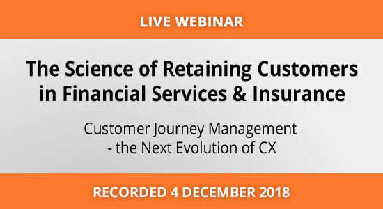 Customer Journey Management for Financial Services & Insurance