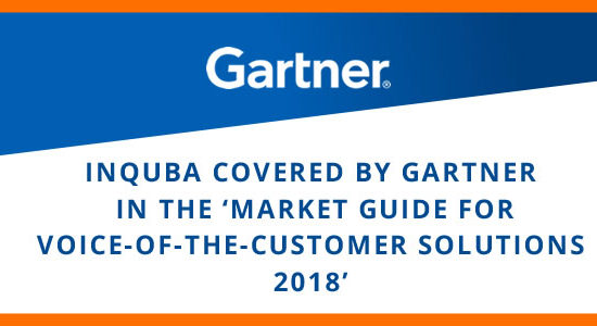 inQuba covered by Gartner in the 'Market Guide for Voice-of-the-Customer Solutions 2018'