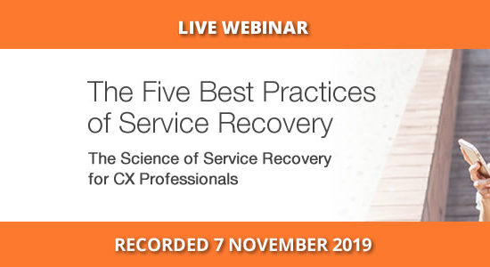 Five best practices of service recovery, SA Webinar