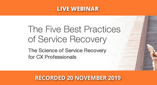 Five best practices of service recovery, AU Webinar