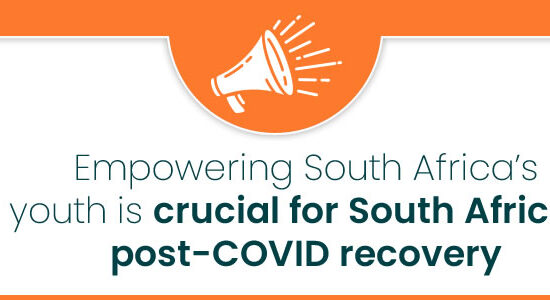 Empowering South Africa's youth is crucial for South Africa's post-COVID recovery